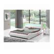 Modern ágy RGB LED világítással, fehér, 160x200, FILIDA