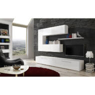 nappali bútor, fehér/fehér extra magasfényű HG, ARIZONA