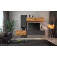 nappali bútor, tölgy wotan/lava barna szuper matt, BRISTOL