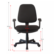 T-COLBY irodai szék, fekete