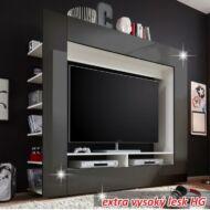 Luxus TV és média fal, fekete extra magas fényű HG, MEDI TV