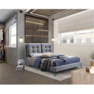 Modern ágy, szürke, 180x200, KOLIA