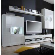Light magasfényű fehér ajtós szekrénysor