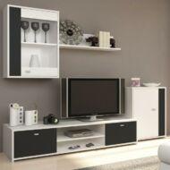 Genta nappali szekrénysor fehér + fekete színben