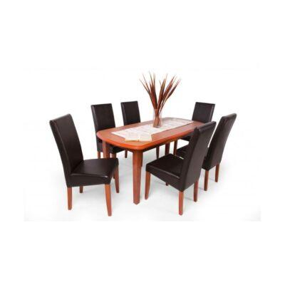 Berta étkező garnitúra calvados barna textilbőr