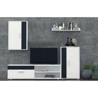Best Barato Kevin Asole mini szekrénysor fehér + fekete dekor