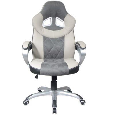 T-Irodai szék bézs textilbőr/fekete textilbőr/szürke szövet, ACTON