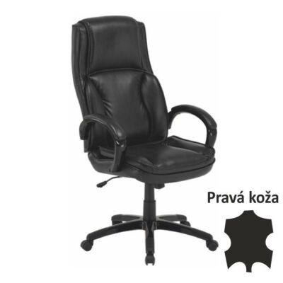 T-Irodai szék, bőr/textilbőr fekete, LUMIR