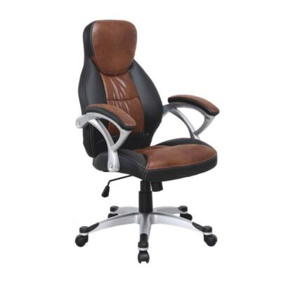 T-Irodai szék, barna/fekete, ICARUS