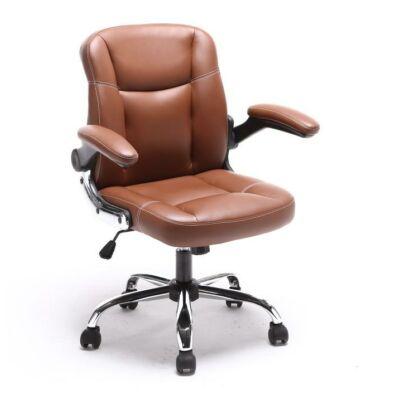T-Irodai szék, barna textilbőr, GARED
