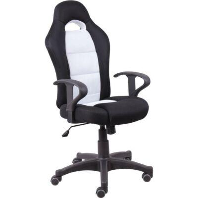 T-Irodai szék, fekete/fehér, SENON
