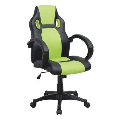 T-Irodai szék, fekete textilbőr + zöld textilbőr, LESTER