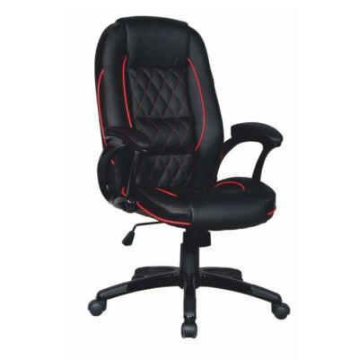 T-Irodai szék, fekete textilbőr/piros szegéllyel, PORSHE