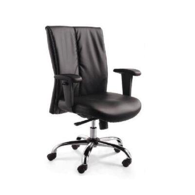 T-Irodai szék, fekete textilbőr, GAUTIER