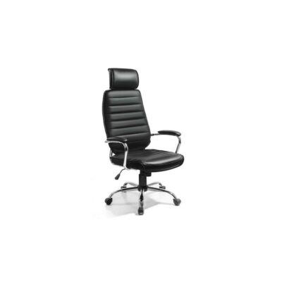 T-Irodai szék, fekete textilbőr, IZIDOR