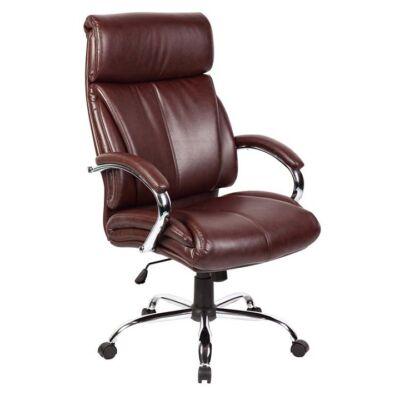 T-Irodai szék, sötétbarna textilbőr, CABELA