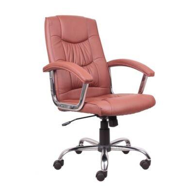 T-Irodai szék, világosbarna textilbőr, LIONEL 1658LC