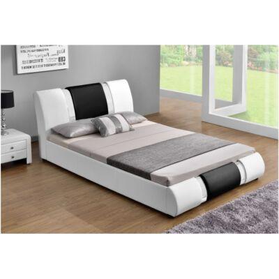 Modern ágy, Fehér/fekete, 180x200, LUXOR