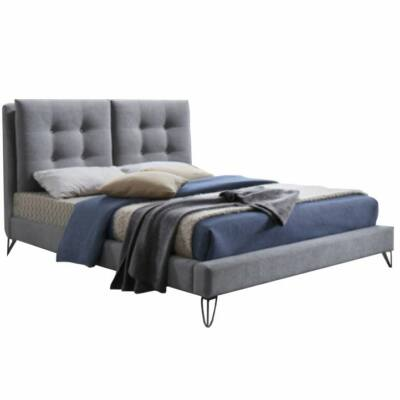 Modern ágy, szürke, 160x200, KOLIA