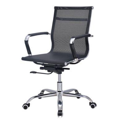 T-Modern irodai szék, kartámasszal, fekete háló, MELIS
