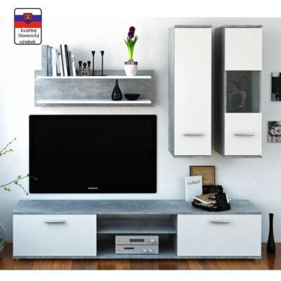 Waw new betonszín/ fehér modern szekrénysor olcsó áron