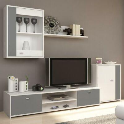 Genta nappali szekrénysor fehér + szürke színben