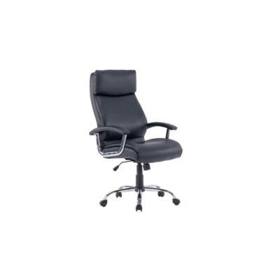 T-Irodai szék, fekete textilbőr, KERMIT